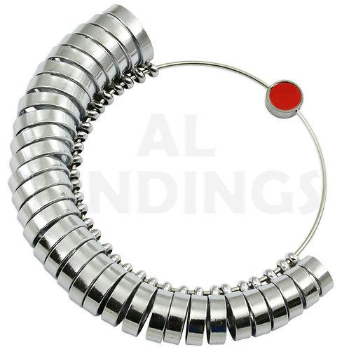 6mm Wide Band Finger Sizer Ring Gauge (A-Z +6) : 32pcs