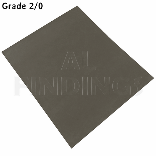 6x 2/0 Grit Emery Sand PaperCloth Sheets