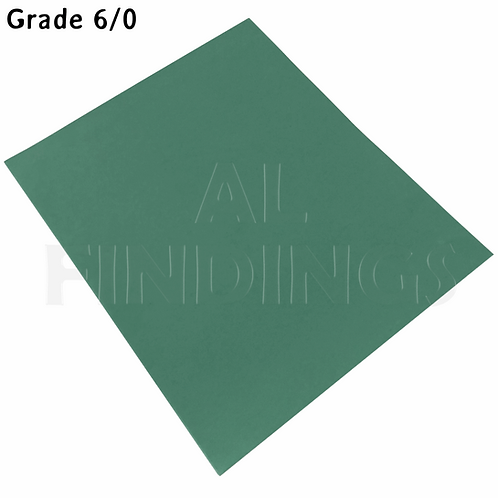 6x 6/0 Grit Emery Sand Paper Cloth Sheets