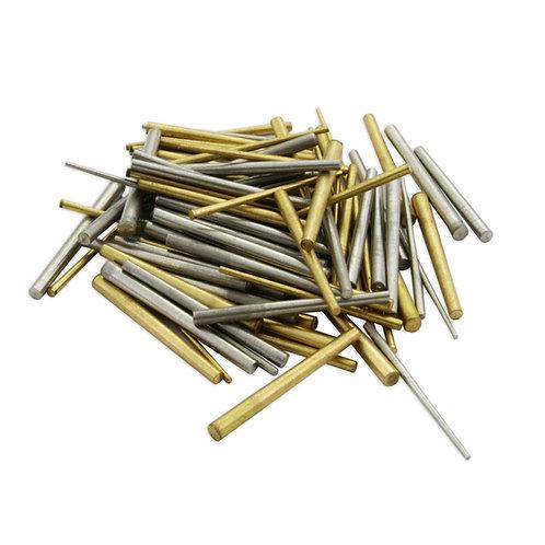 100x Clock Taper Pins : Steel & Brass