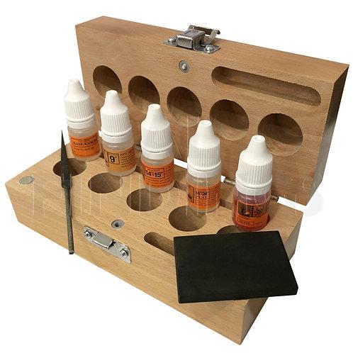 5 Bottle Gold/ Silver/ Platinum Acid Testing Kit