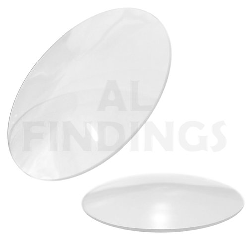 40mm - 50mm Domed Watch Mineral Glass 1mm