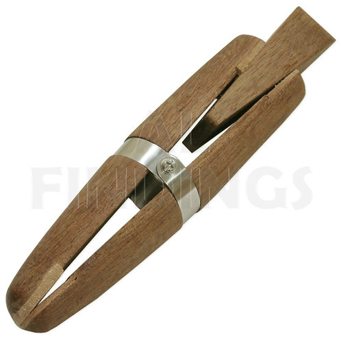Mahogany Wooden Ring Clamp With Wedge
