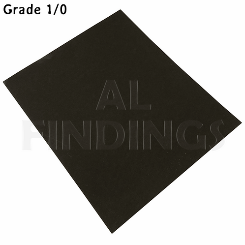 6x 1/0 Grit Emery Sand PaperCloth Sheets