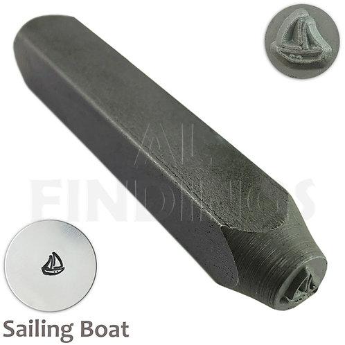 6mm Sailing Boat Design Stamp