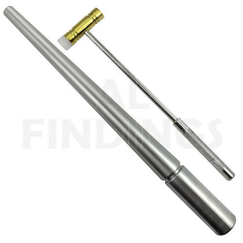 Plain Ring Mandrel & Brass Fibre Hammer