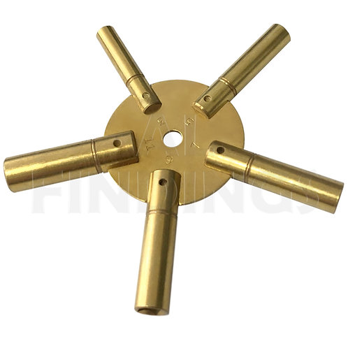 3-11 Brass Clock Spider Key