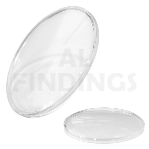 19mm-24.8mm Round Low Domed Acrylic Watch Glass