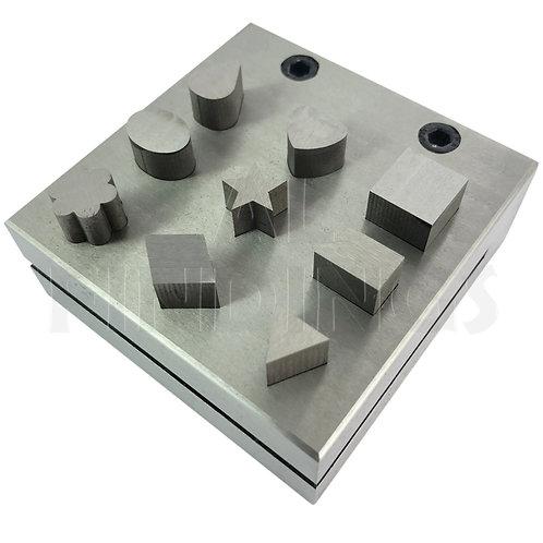 9 Assorted Shaped : Teardrop Hexagonal Triangle Oval Heart Star Disc Cutter Tool