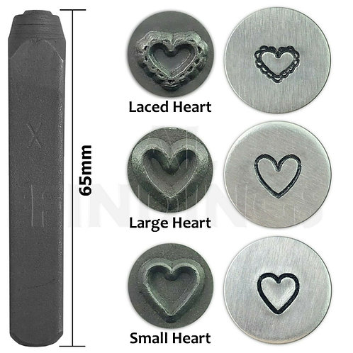6mm Heart Lace Heart Design Stamp Punch Metal Stamping Tool
