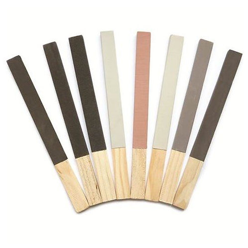 Set of 8 Emery Paper Stick - Grades 1/0 - 4/0 & No.1 - 4