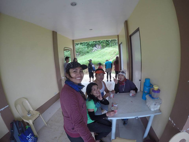 at the registration center (Osmeña Peak)