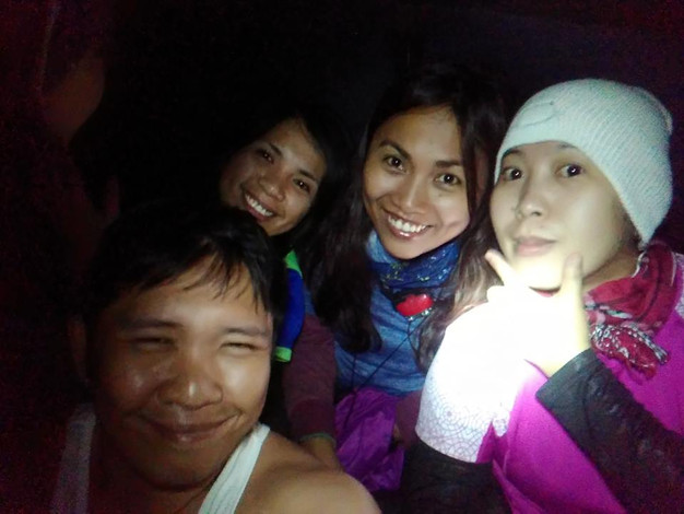 our faces amidst the storm (Osmeña Peak)