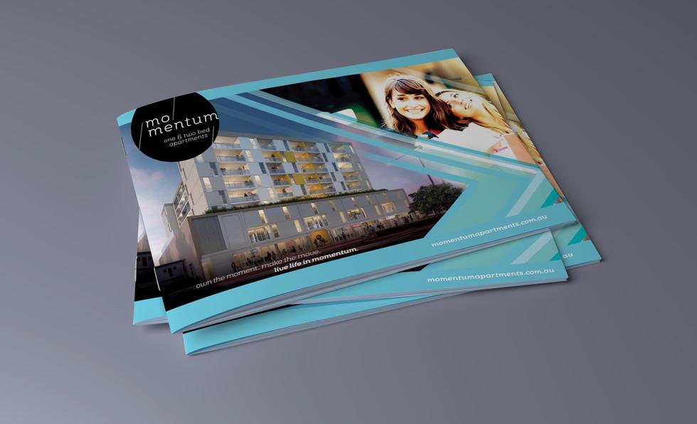 Momentum Apartments Brochure Design