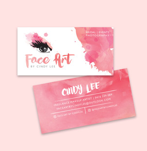 Face Art By Cindy Lee Logo and Card designs
