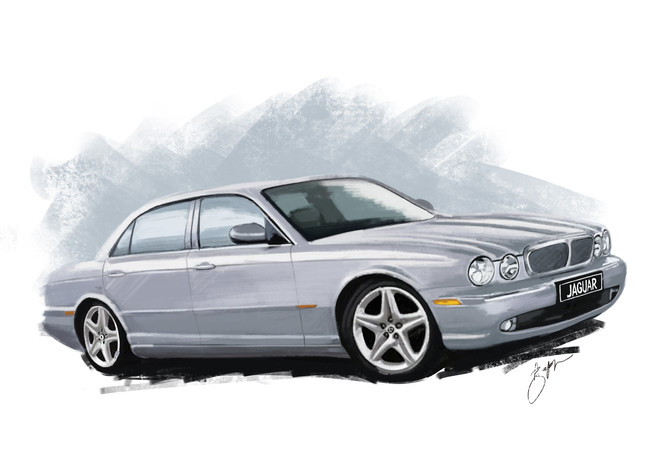2003 Jaguar - Digital Illustration