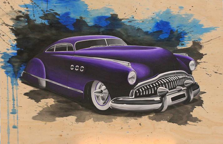 49 custom buick Plywood Painting