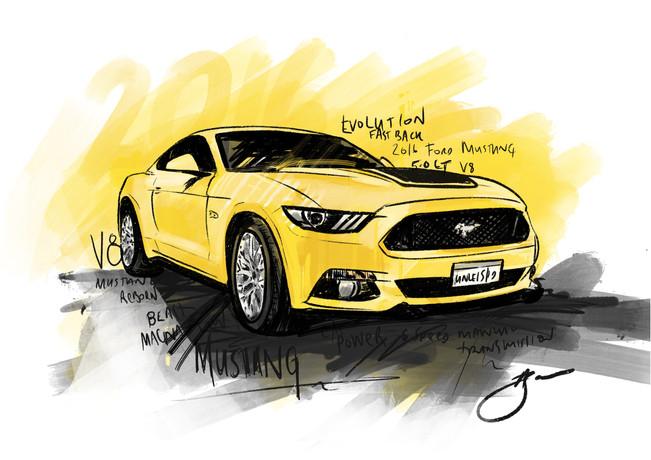 2016 Mustang- Digital Illustration