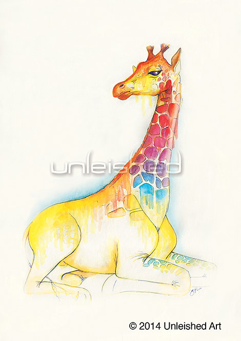 Giraffe Limited Edition Print