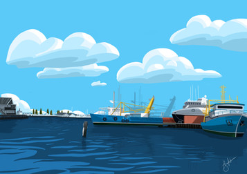 Fremantle Harbour Illustration