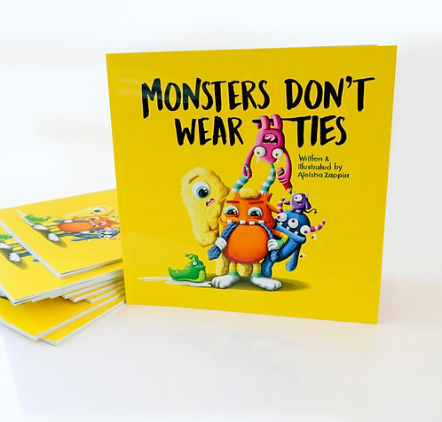 Monsters don't wear ties - illustrated children's book