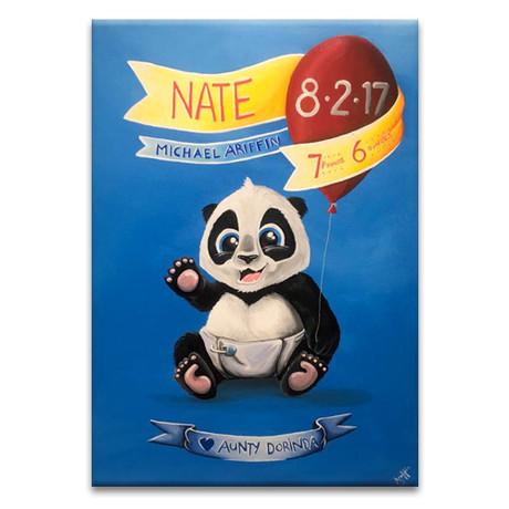 Nate Panda Canvas Painting