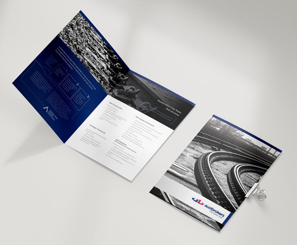 AB City State Rail Division Brochure design