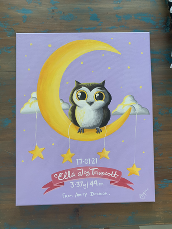 Little Owl Canvas Painting