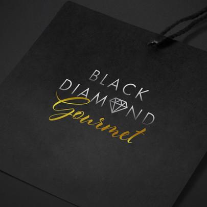 Black Diamond Gourmet Logo Design