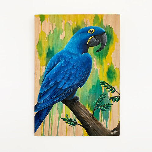 SOLD - Blue Macaw (400mm x 600mm)