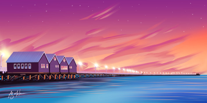 Busselton Jetty Illustration