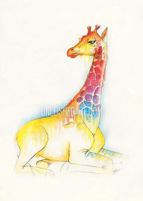Giraffe Limited Edition Print