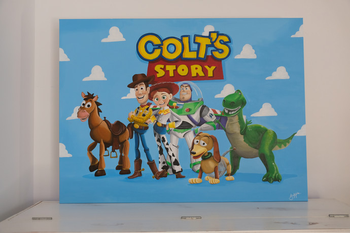 Colt's Story Canvas Painting