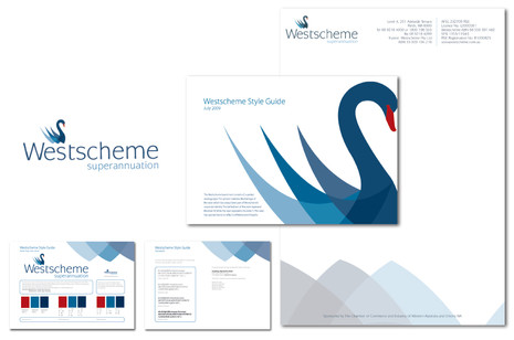 Westscheme Superannuations logo, Style Guide and Stationery design