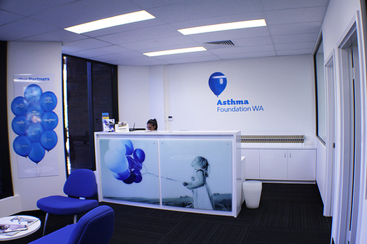 Asthma Foundation WA Interior Signage