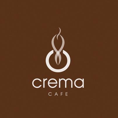Crema Cafe Logo Design