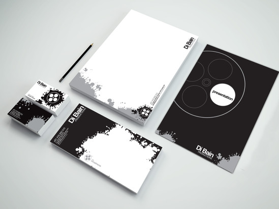 Di Bain Production Logo and Stationery Design