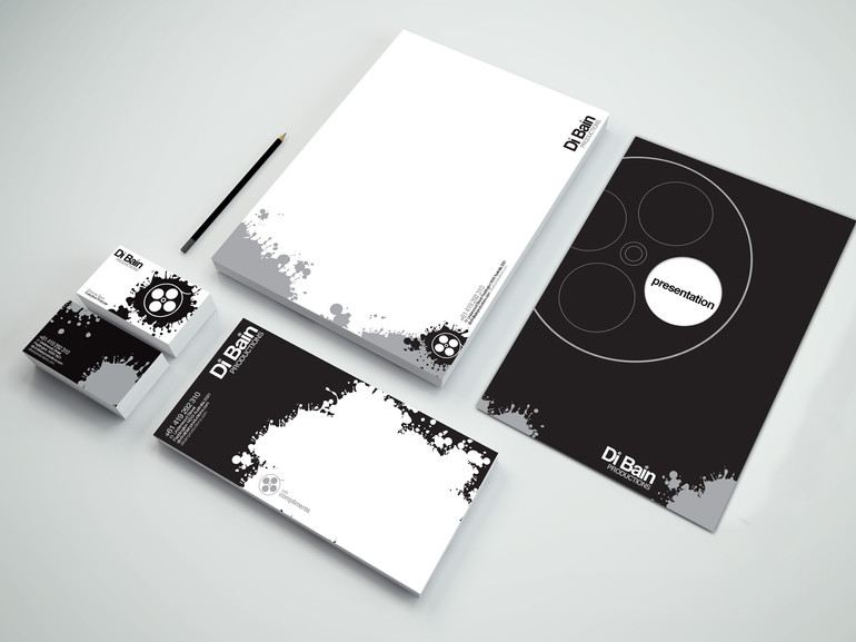 Di Bain Productions Logo and Stationery Design