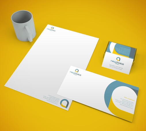 New Choice Homes Logo and Stationery Design
