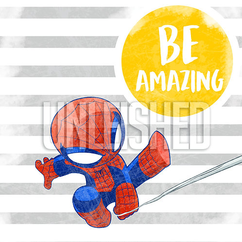 be amazing spiderman print