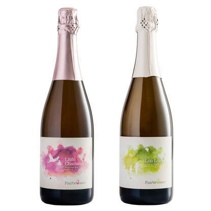 Sparkling bottles
