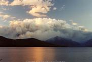 Lake McDonald Forest Fire - GNP- Circa 1994