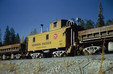 Former NP Caboose for MK - Fisher River 10-24-1970