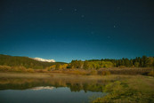 Meadow & Pond & Big Dipper taken in Full-Moon light - September 19, 2021
