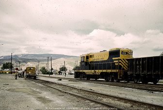BA&P GP7 103 at Switching Anaconda Smelter - July 1970