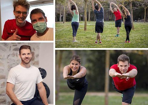 Multiples photos de coaching et entrainement sportif sur Fribourg et Vevey