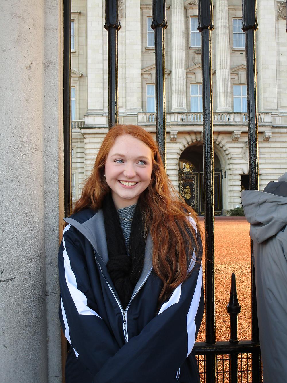 Betsy at Buckingham Palace