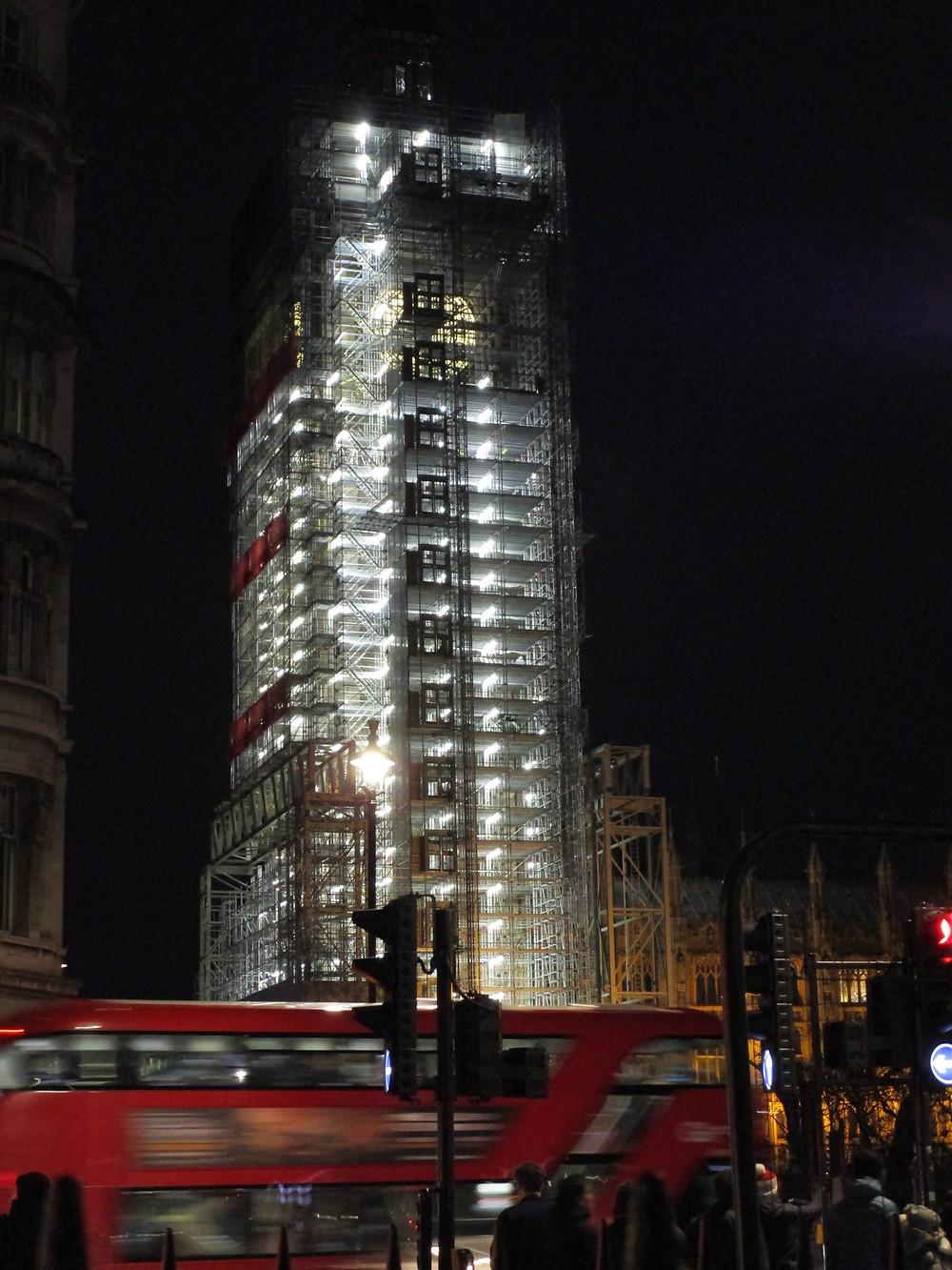 Big Ben at night (under construction)