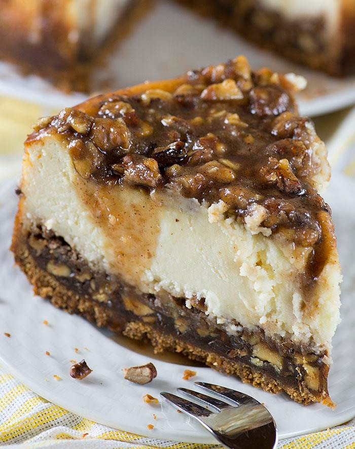 Pecan Cheesecake slice