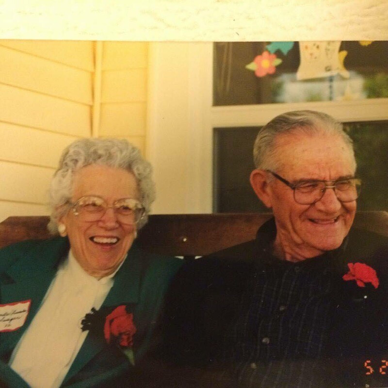Grandpa and his beautiful bride, Lucille